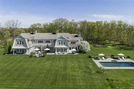 Luxury Mansion Sold in Darien CT 06820. Big contemporary, colonial house near waterfront with swimming pool and 3 car garage.