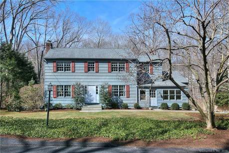 Single Family Home Sold in New Canaan CT 06840. Colonial house near river side waterfront with 2 car garage.