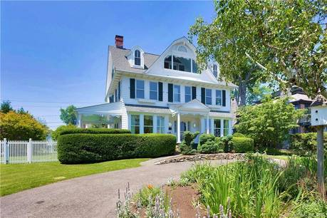 Single Family Home Sold in Greenwich CT 06870. Old colonial house near beach side waterfront with 2 car garage.