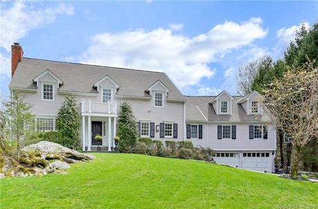 Single Family Home Sold in Greenwich CT 06807. Colonial house near waterfront with swimming pool and 2 car garage.