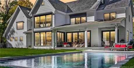 Luxury Mansion Sold in Westport CT 06880. Big contemporary farm house near beach side waterfront with swimming pool and 3 car garage.