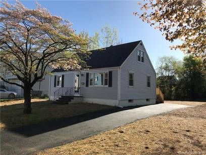 Single Family Home Sold in Bridgeport CT 06610.  cape cod house near waterfront.