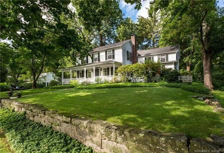 Single Family Home Sold in New Canaan CT 06840. Old colonial, antique house near waterfront with swimming pool and 2 car garage.