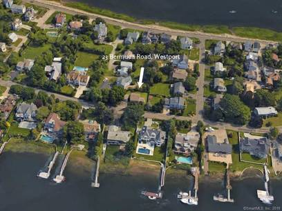 Single Family Home Sold in Westport CT 06880.  cape cod house near beach side waterfront with 2 car garage.
