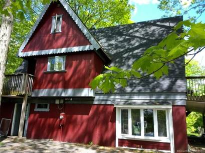 Single Family Home Sold in Monroe CT 06468. Contemporary, a-frame house near waterfront.