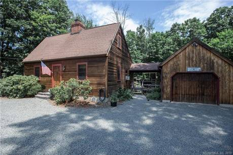Single Family Home Sold in Bethel CT 06801.  cape cod house near waterfront with 1 car garage.