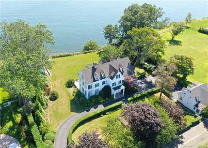 Luxury Single Family Home Sold in Darien CT 06820. Old colonial house near beach side waterfront with swimming pool and 3 car garage.