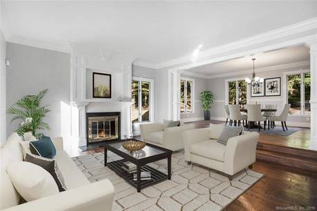Single Family Home For Rent in Greenwich CT 06831. Tudor house near waterfront with swimming pool and 5 car garage.