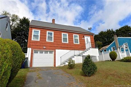 Single Family Home Sold in Bridgeport CT 06606.  cape cod house near waterfront with swimming pool and 1 car garage.