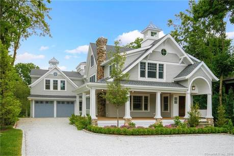 Luxury Mansion Sold in Greenwich CT 06870. Big colonial house near waterfront with 2 car garage.