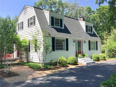 Single Family Home Sold in Newtown CT 06470. Colonial cape cod house near waterfront with swimming pool and 2 car garage.