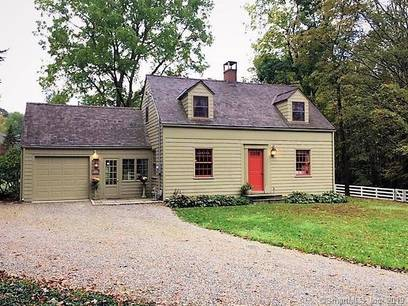 Single Family Home Sold in Sherman CT 06784. Old  cape cod house near waterfront with 1 car garage.