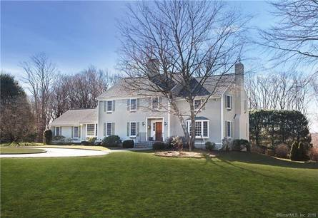 Single Family Home Sold in New Canaan CT 06840. Colonial house near waterfront with swimming pool and 2 car garage.