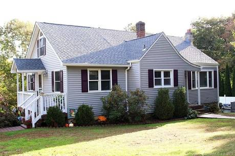 Single Family Home Sold in Shelton CT 06484.  cape cod house near waterfront with swimming pool.