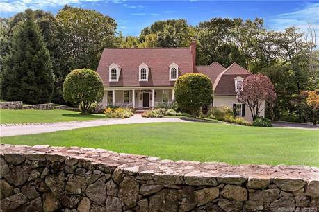 Single Family Home Sold in Ridgefield CT 06877.  cape cod house near river side waterfront with 3 car garage.