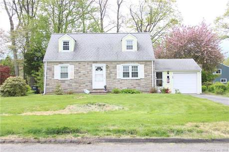 Single Family Home Sold in Stamford CT 06905.  cape cod house near waterfront with 1 car garage.