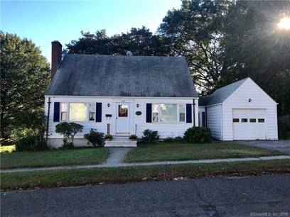 Single Family Home Sold in Stratford CT 06614.  cape cod house near beach side waterfront with 1 car garage.