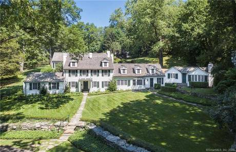 Single Family Home Sold in Greenwich CT 06831. Old colonial house near waterfront with swimming pool and 1 car garage.