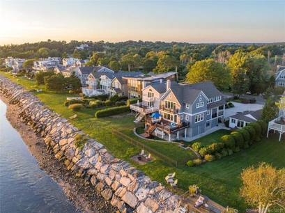 Luxury Single Family Home Sold in Fairfield CT 06824. Colonial house near beach side waterfront with 2 car garage.