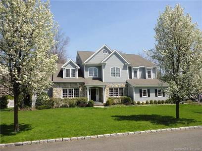 Single Family Home Sold in Darien CT 06820. Colonial house near beach side waterfront with 3 car garage.