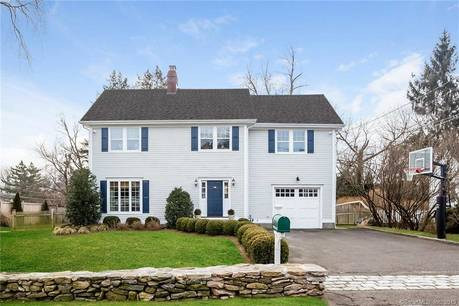 Single Family Home Sold in Darien CT 06820. Old colonial house near beach side waterfront with 1 car garage.