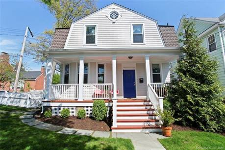 Single Family Home Sold in Greenwich CT 06830. Old victorian house near waterfront.
