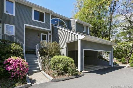 Condo Home Sold in Wilton CT 06897.  townhouse near waterfront with 1 car garage.