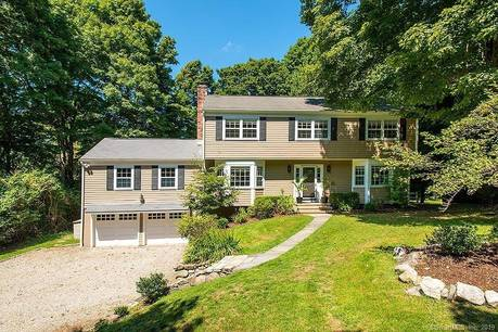 Single Family Home Sold in Westport CT 06880. Colonial house near beach side waterfront with 2 car garage.