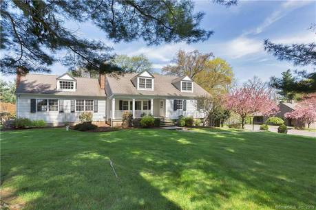 Single Family Home Sold in Wilton CT 06897.  cape cod house near waterfront with swimming pool and 2 car garage.