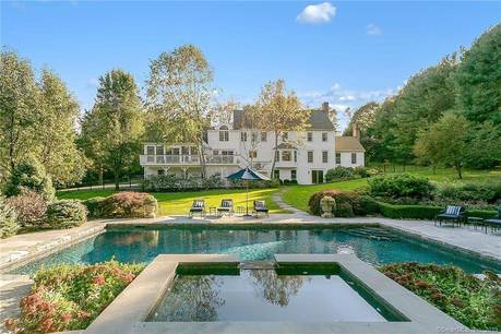 Single Family Home Sold in Wilton CT 06897. Colonial house near waterfront with swimming pool and 4 car garage.