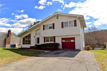 Single Family Home Sold in Shelton CT 06484.  house near river side waterfront with 1 car garage.