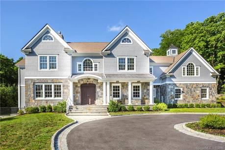 Luxury Mansion Sold in Greenwich CT 06831. Big colonial house near river side waterfront with 3 car garage.