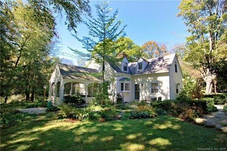Single Family Home Sold in Redding CT 06896. Old antique cape cod house near waterfront with 2 car garage.