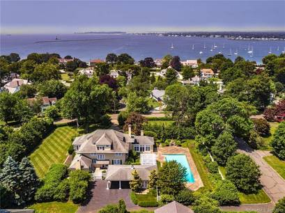 Mansion Sold in Stamford CT 06902. Old colonial house near waterfront with swimming pool.