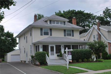 Single Family Home Sold in Stamford CT 06905. Old colonial house near beach side waterfront with 2 car garage.
