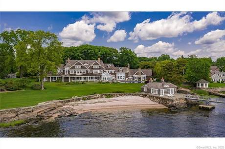 Luxury Mansion Sold in Fairfield CT 06890. Big colonial house near beach side waterfront with swimming pool and 6 car garage.