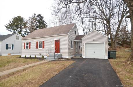 Single Family Home For Sale in Bridgeport CT 06610.  cape cod house near beach side waterfront with 1 car garage.