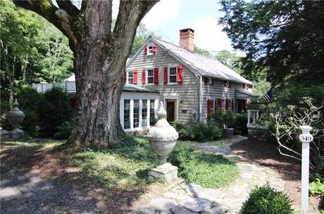 Single Family Home Sold in Stamford CT 06903. Old colonial, antique house near waterfront with swimming pool and 2 car garage.