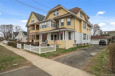 Multi Family Home Sold in Stratford CT 06614. Old  house near waterfront with 3 car garage.