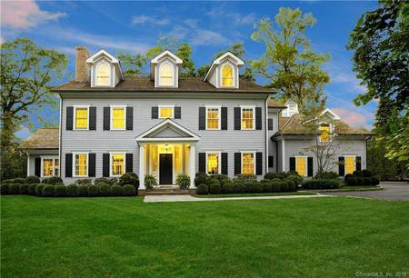 Luxury Mansion Sold in Greenwich CT 06878. Big colonial house near waterfront with 2 car garage.