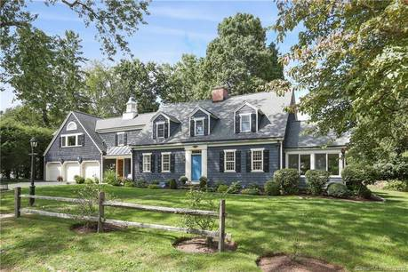 Single Family Home Sold in Westport CT 06880. Old colonial cape cod house near beach side waterfront with 5 car garage.