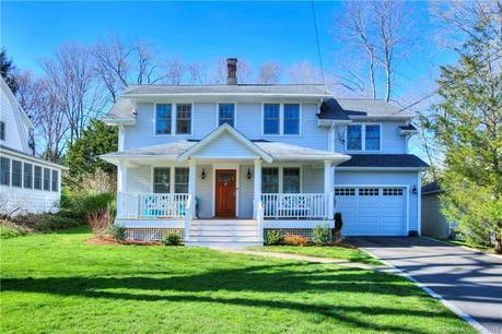 Single Family Home Sold in Westport CT 06880. Old colonial house near beach side waterfront with 1 car garage.