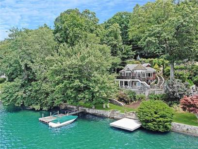 Single Family Home Sold in New Fairfield CT 06812. Old  house near lake side waterfront.