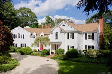 Single Family Home Sold in New Canaan CT 06840. Colonial house near river side waterfront with swimming pool and 3 car garage.