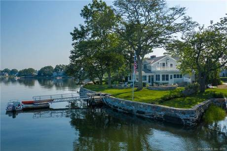 Luxury Single Family Home Sold in Greenwich CT 06870. Colonial house near waterfront with 2 car garage.