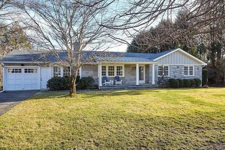 Single Family Home For Sale in Westport CT 06880. Ranch house near beach side waterfront with 1 car garage.