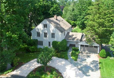 Single Family Home Sold in Greenwich CT 06870. Old colonial house near waterfront with 2 car garage.
