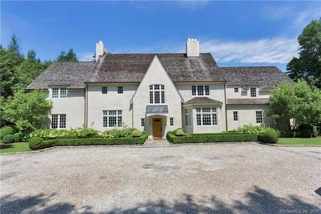 Luxury Mansion For Sale in Greenwich CT 06830. Old  house near waterfront with swimming pool and 2 car garage.