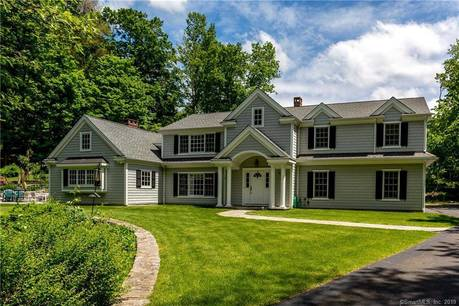 Single Family Home Sold in Ridgefield CT 06877. Colonial house near lake side waterfront with 3 car garage.