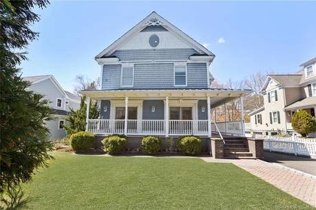Single Family Home Sold in Darien CT 06820. Victorian house near beach side waterfront with 2 car garage.